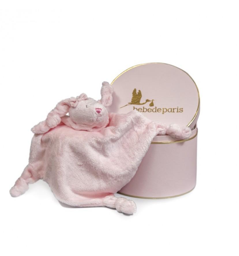 Pink Big Bunny Baby Comforter Gift Set