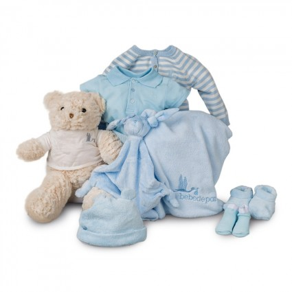 Blue Stripes Soft Complete Baby Hamper