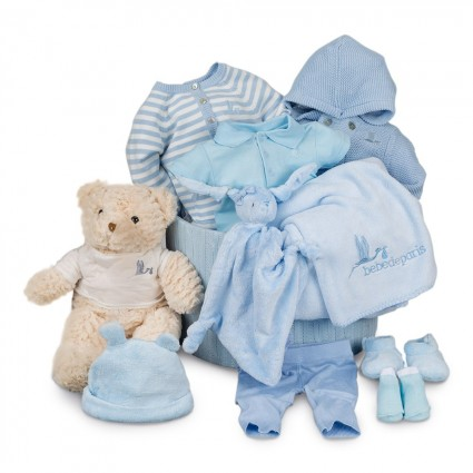 Blue Stripes Soft Deluxe Baby Hamper