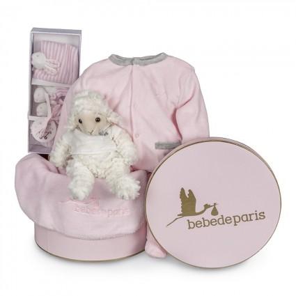 Pink Vintage Velour Baby Hamper