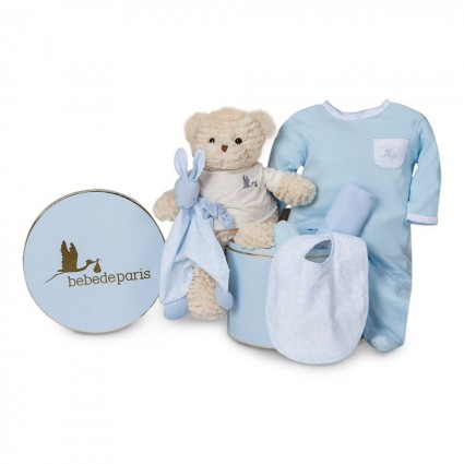 Vintage Essential Baby Hamper Blue