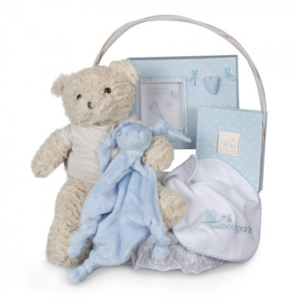 Memories Essential Baby Gift Basket Blue