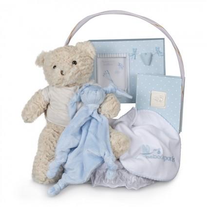 Memories Essential Baby Gift Basket Blue