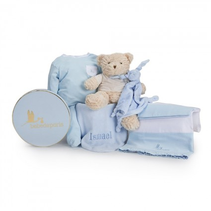 My Embroidered Sleep Baby Hamper Blue