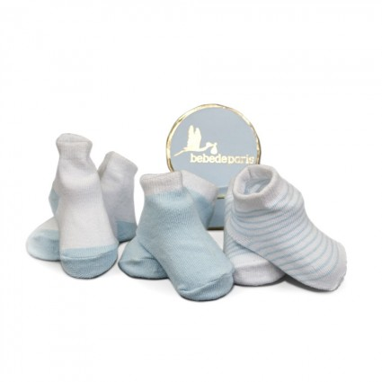 Grey Baby First Socks Gift Set