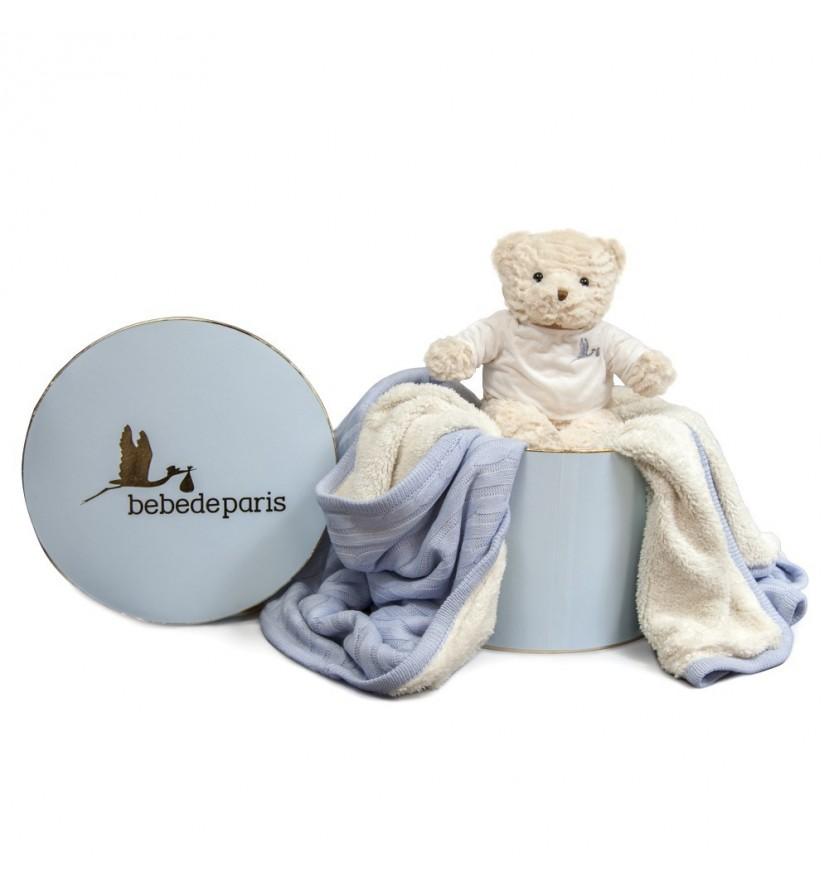 Blue Baby Deluxe Blanket Gift Set
