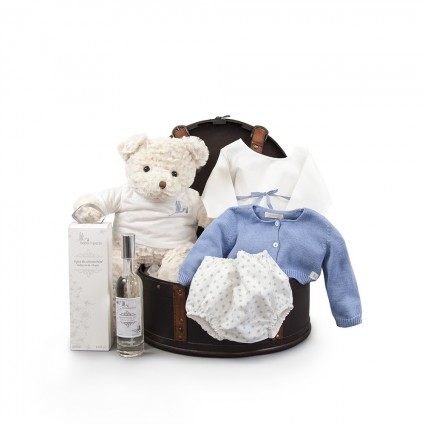 Atelier Coffre New York Baby Basket Blue