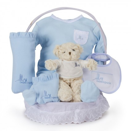 Classic Essential Baby Gift Basket Blue