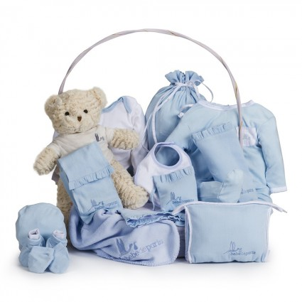 Classic Complete Baby Gift Basket Blue