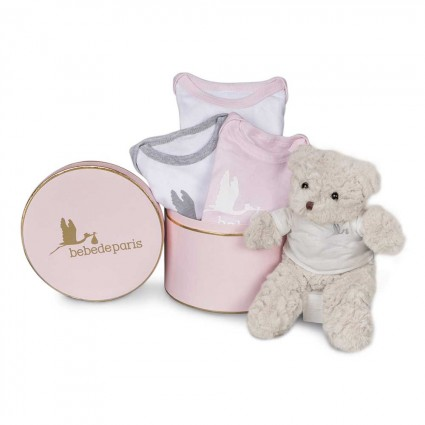 Pink Happy Bodies Baby Hamper