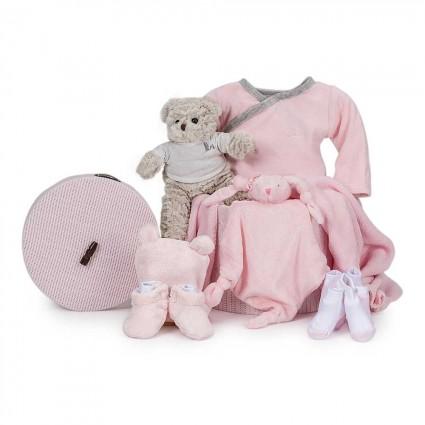 Velour Essential Baby Gift Basket Pink