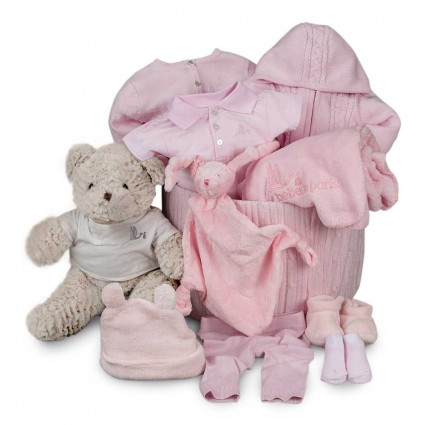 Pink Classic Soft Deluxe Baby Hamper