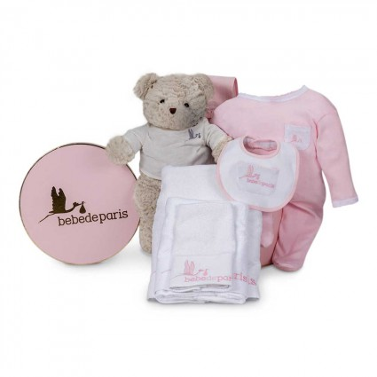 Essential Baby Gift Basket Grey