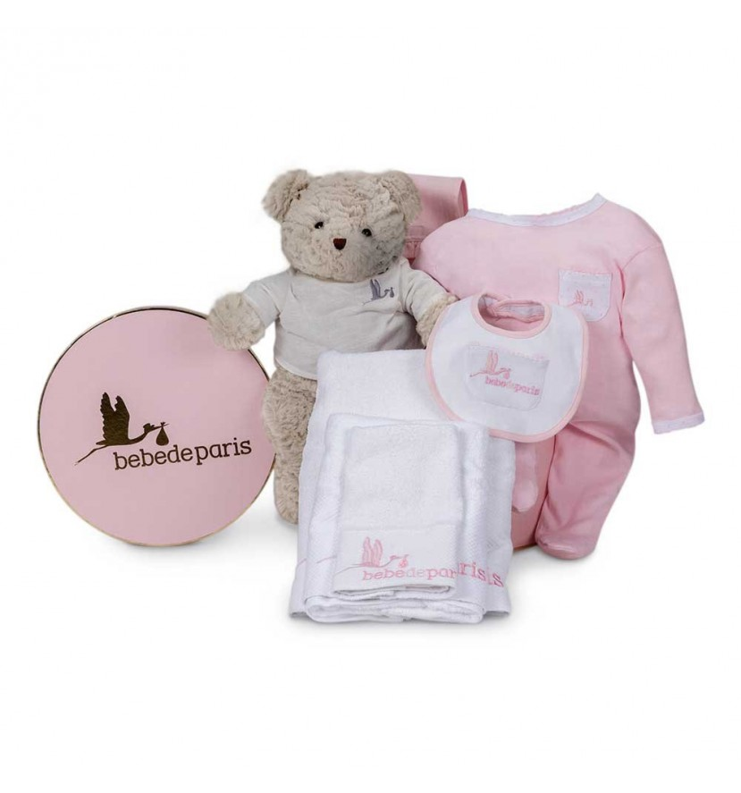 Essential Baby Gift Basket Grey