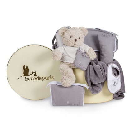 Travel Baby Hamper Grey