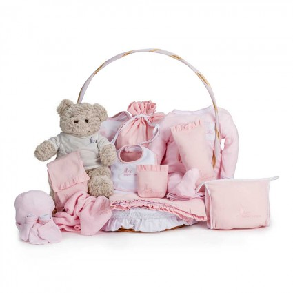 Classic Complete Baby Gift Basket Pink
