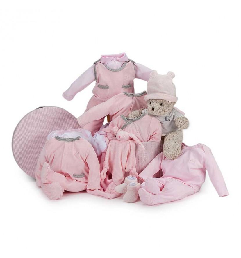 Velour Deluxe Baby Gift Basket Blue