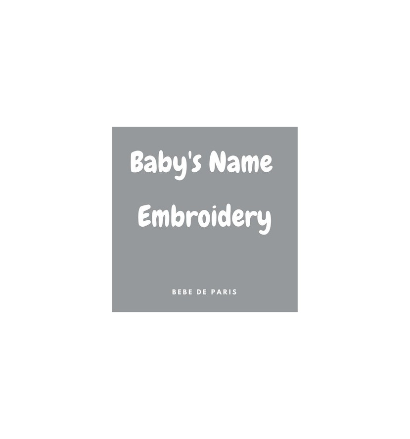 Baby name embroidery