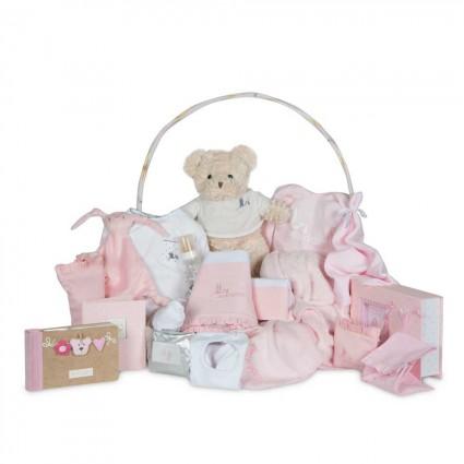 Memories Deluxe Baby Gift Basket Pink