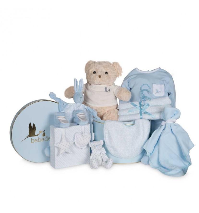 Vintage Complete Baby Hamper Blue