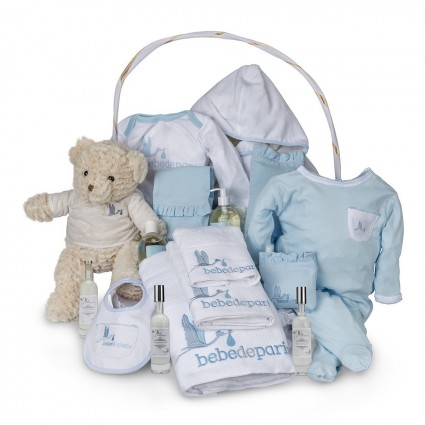 Spa Deluxe Baby Gift Basket Blue