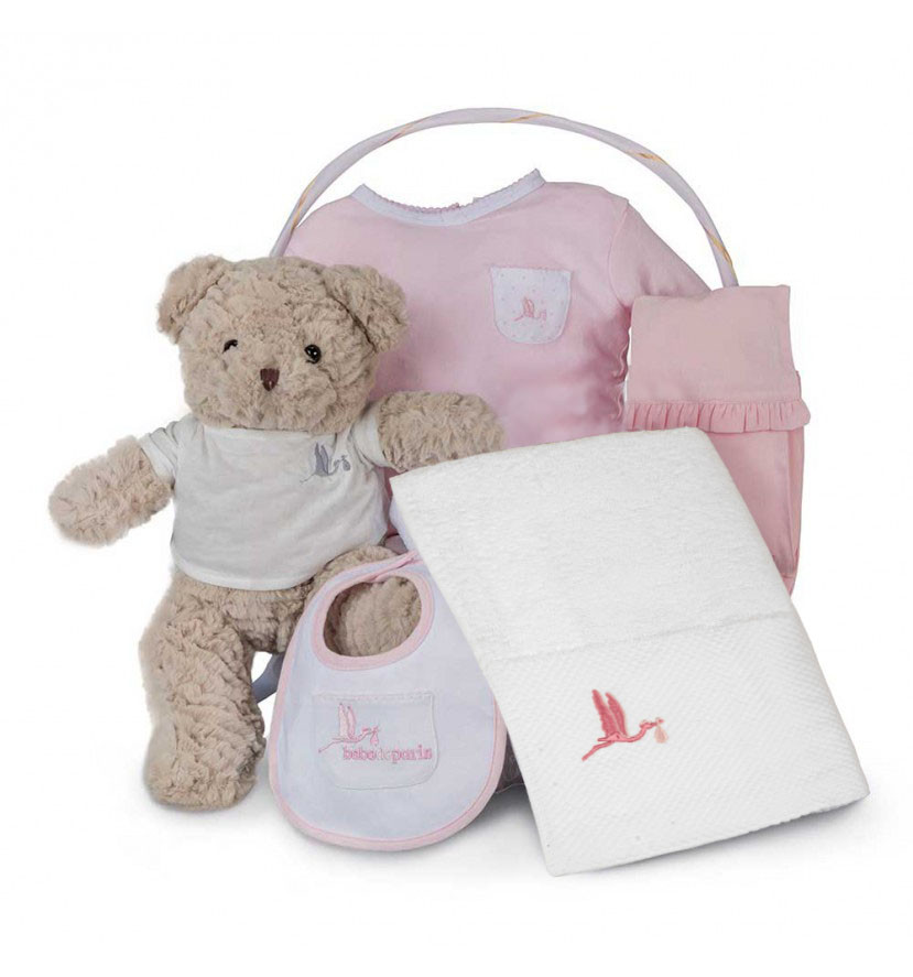 Spa Essential Baby Gift Basket Pink