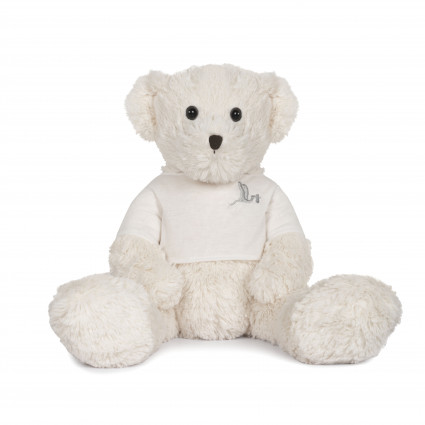 BebeDeParis Teddy Bear White 42 cm