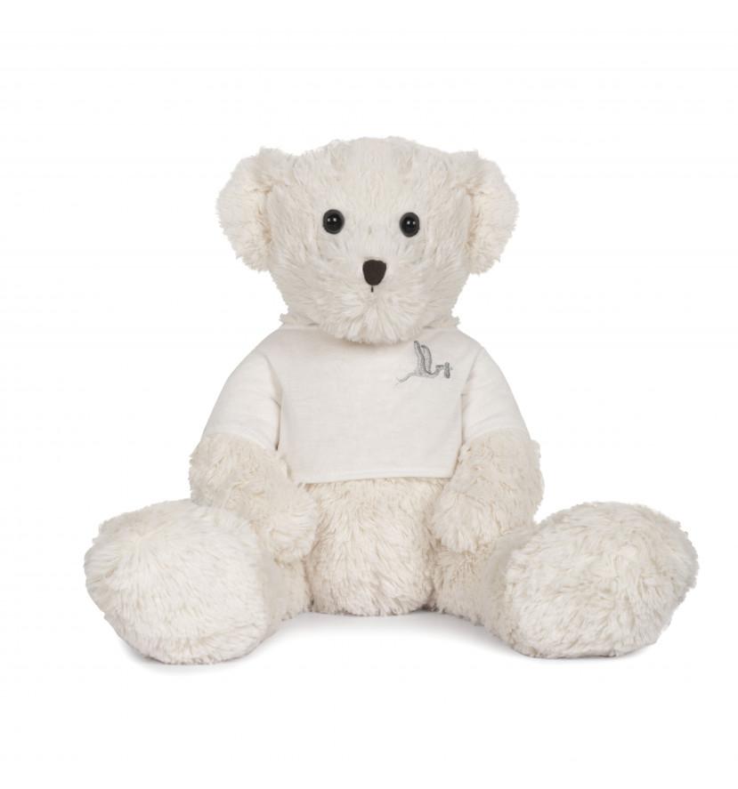 BebeDeParis Teddy Bear White 42 cm