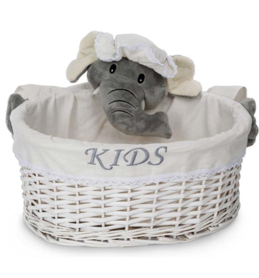 Individual Elephant Basket- L