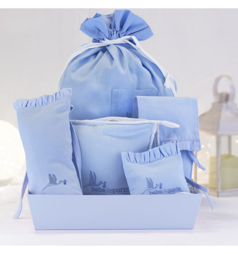 Home Gift set of baby accessory cases blue