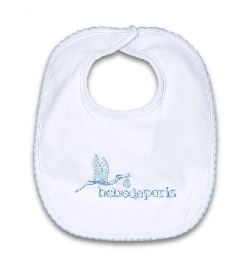 Baby Cotton Bib Blue
