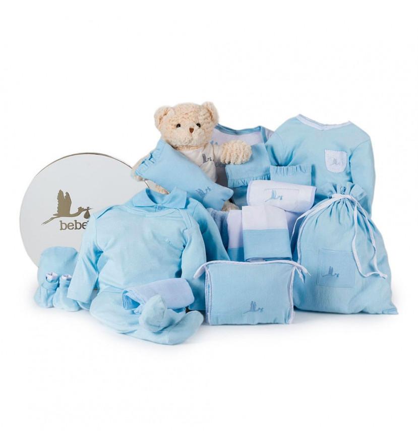Classic Deluxe Baby Hamper blue