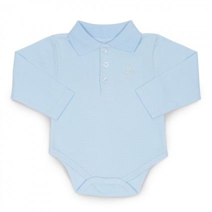 Baby Polo Bodysuit Blue