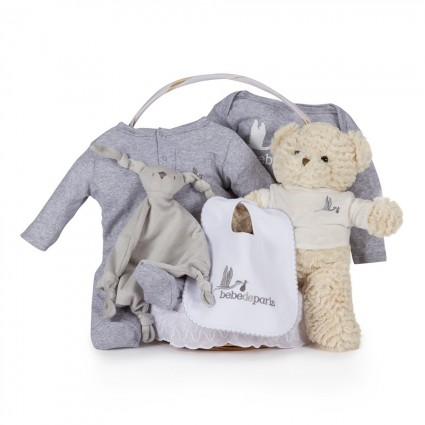 Casual Essential Baby Gift Basket Grey
