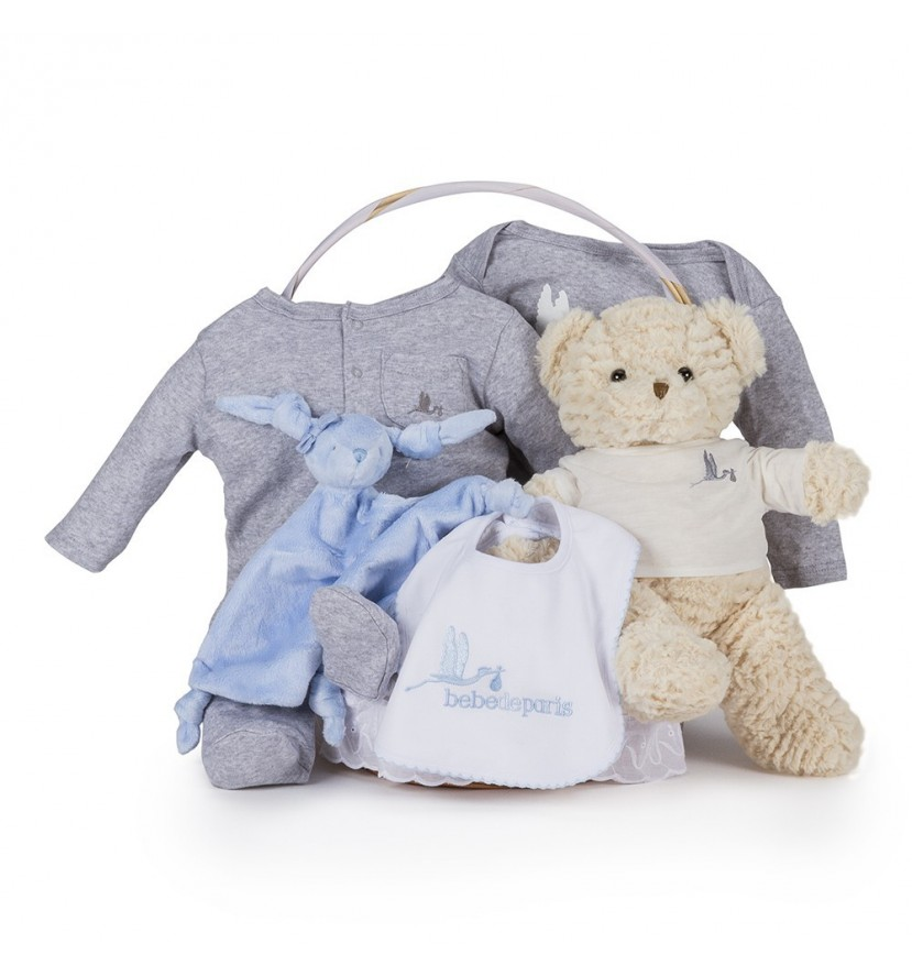 Casual Essential Baby Gift Basket Blue