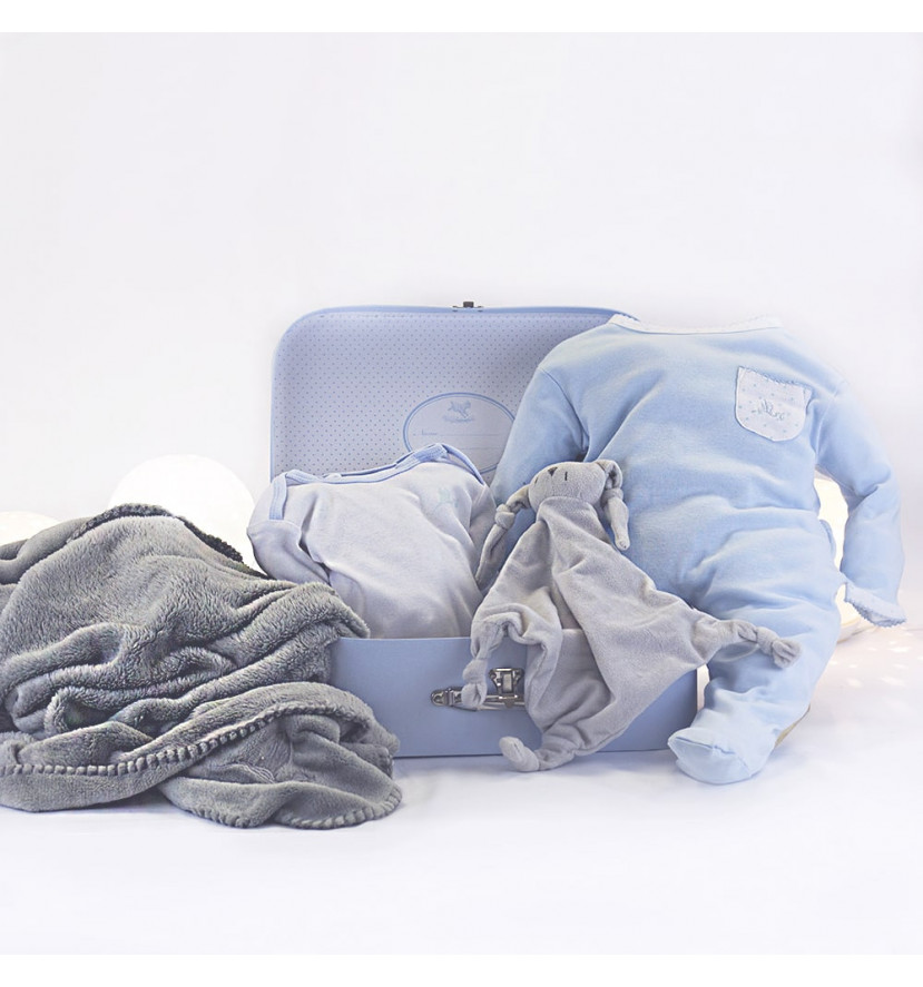 Basket Personalized Blanket Pajamas and bodysuit for Newborn