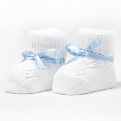 My first booties blue