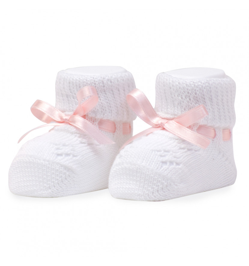 My first booties pink