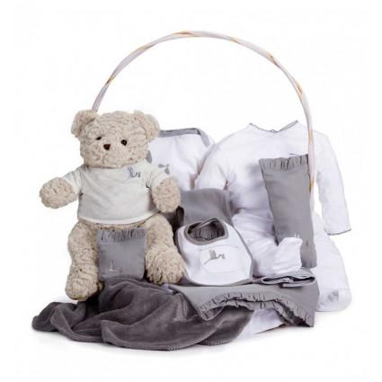 Classic Baby Gift Basket grey