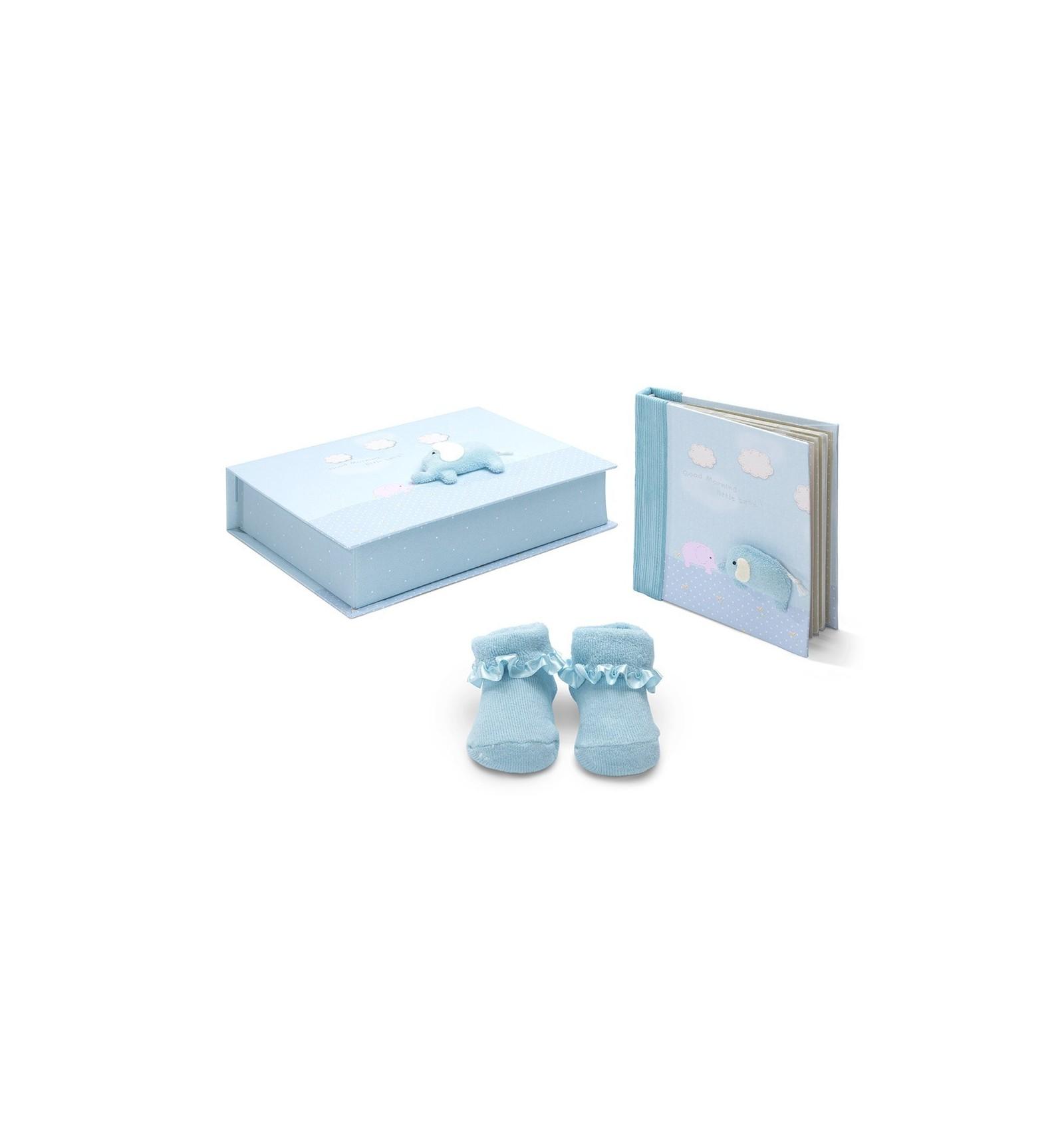 Elephant baby gift set blue baby gift set elephant negle Choice Image
