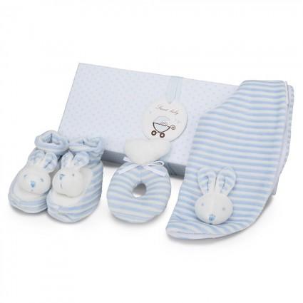 Blue Bunny Baby Gift Set