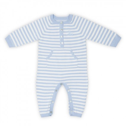 Blue Baby Stripes Onesie