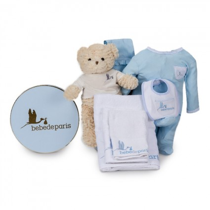 Essential Baby Gift Basket Blue