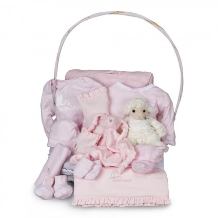 Serenity Complete Baby Gift Basket Grey