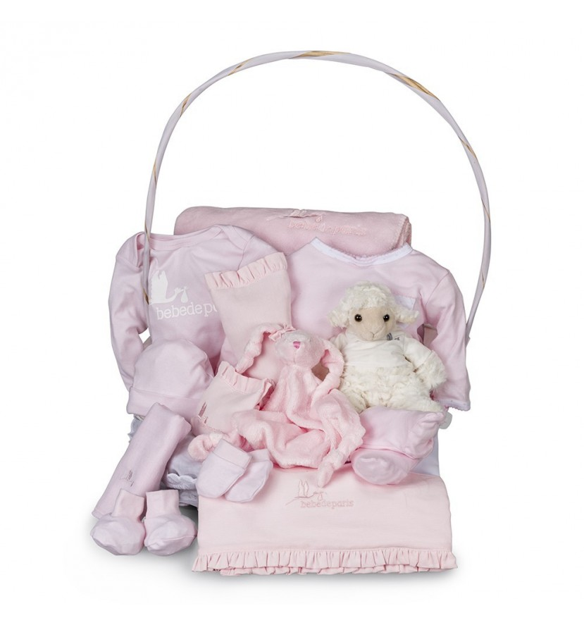 Serenity Complete Baby Gift Basket Pink