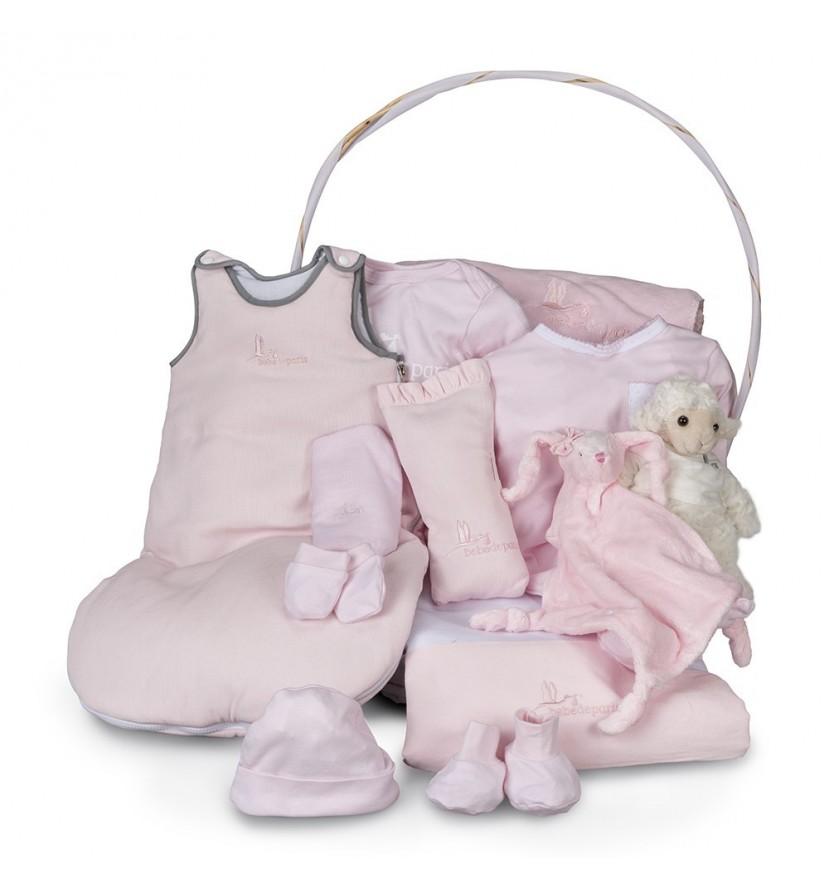 Pink Serenity Deluxe Baby Gift Basket
