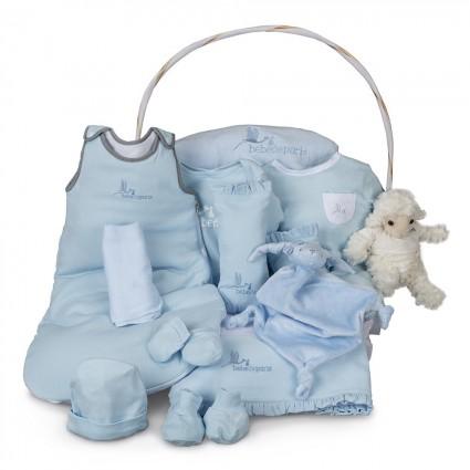 Blue Serenity Deluxe Baby Gift Basket