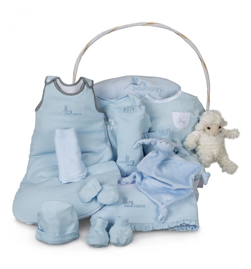 Blue Serenity Deluxe Baby Gift Basket