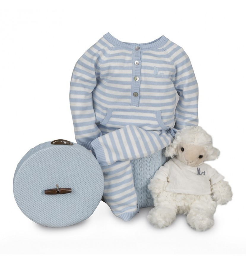 Happy Stripes Baby Hamper Blue